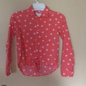 Girls children's place long sleeve shirt